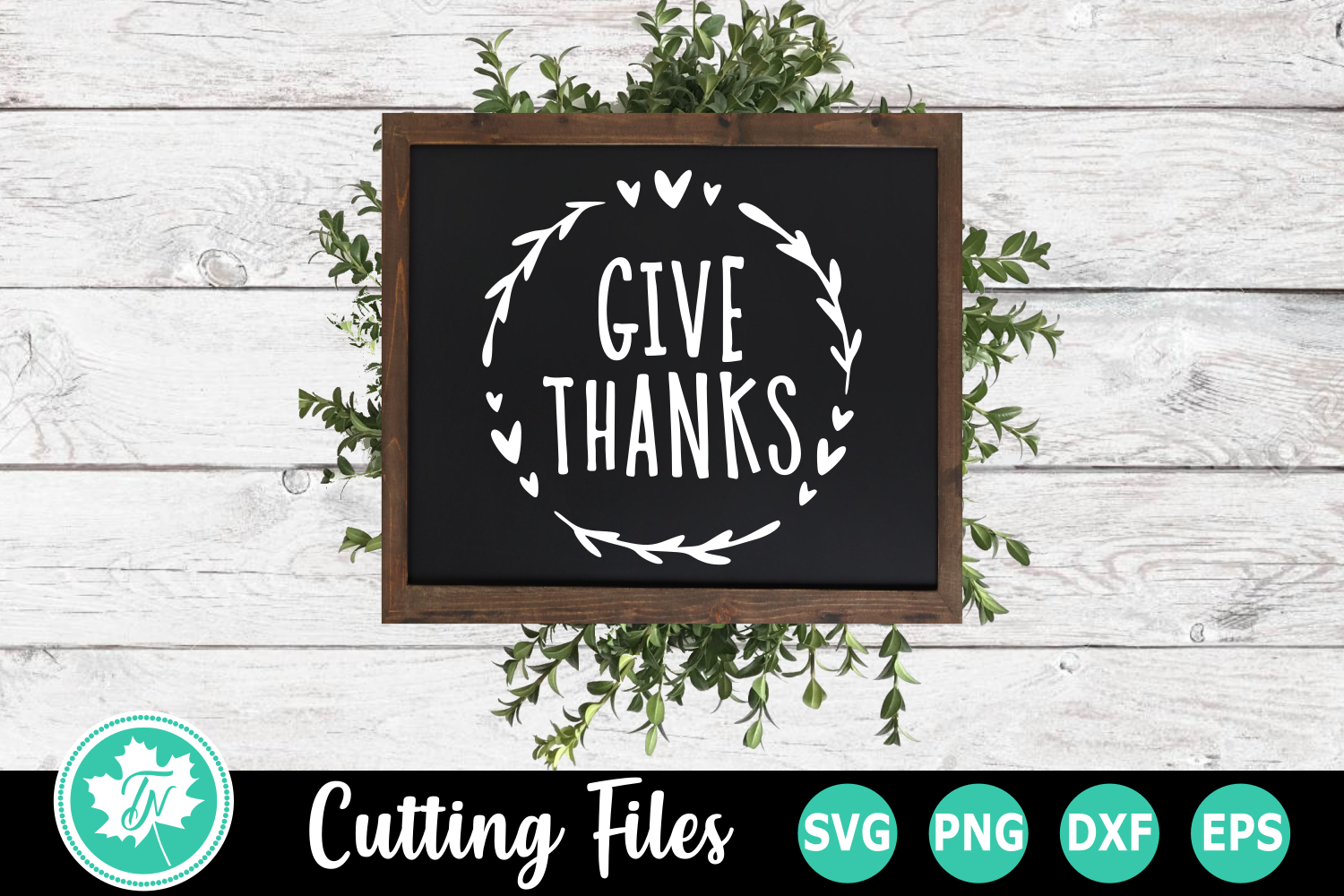 Give Thanks - A Fall SVG Cut File example image 1