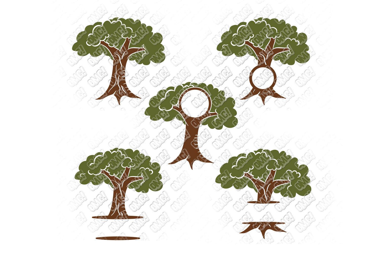 Acorn SVG Oak Tree Leaves in SVG, DXF, PNG, EPS, JPEG example image 3