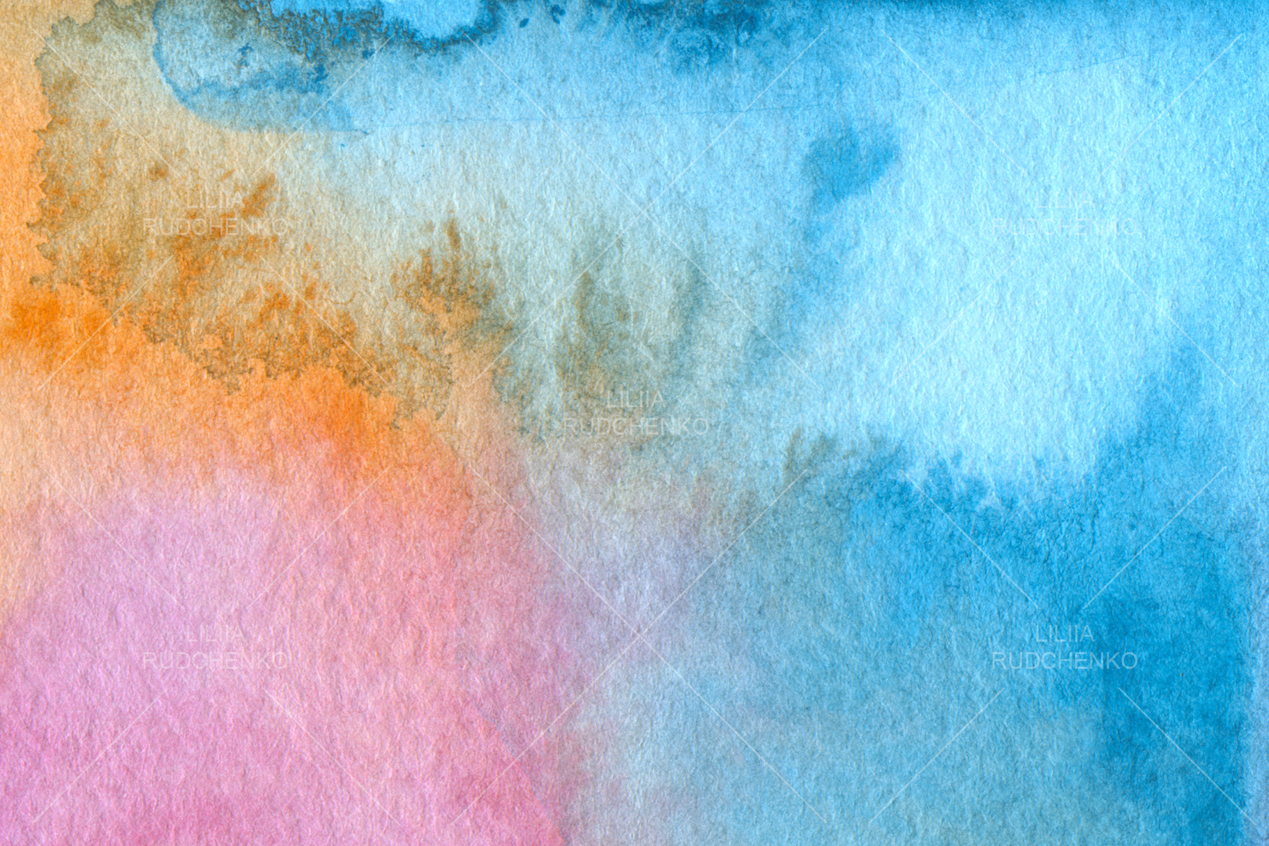 Abstract acrylic and watercolor painted background. Texture