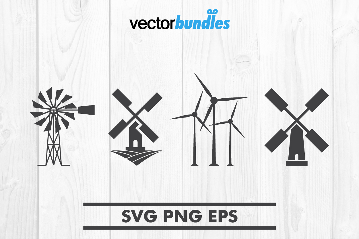 Windmill clip art svg example image 1