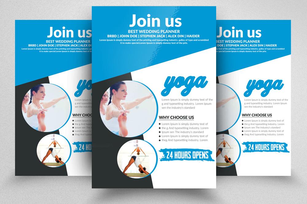 Yoga Flyer Template 09 by Designhub719 | Design Bundles