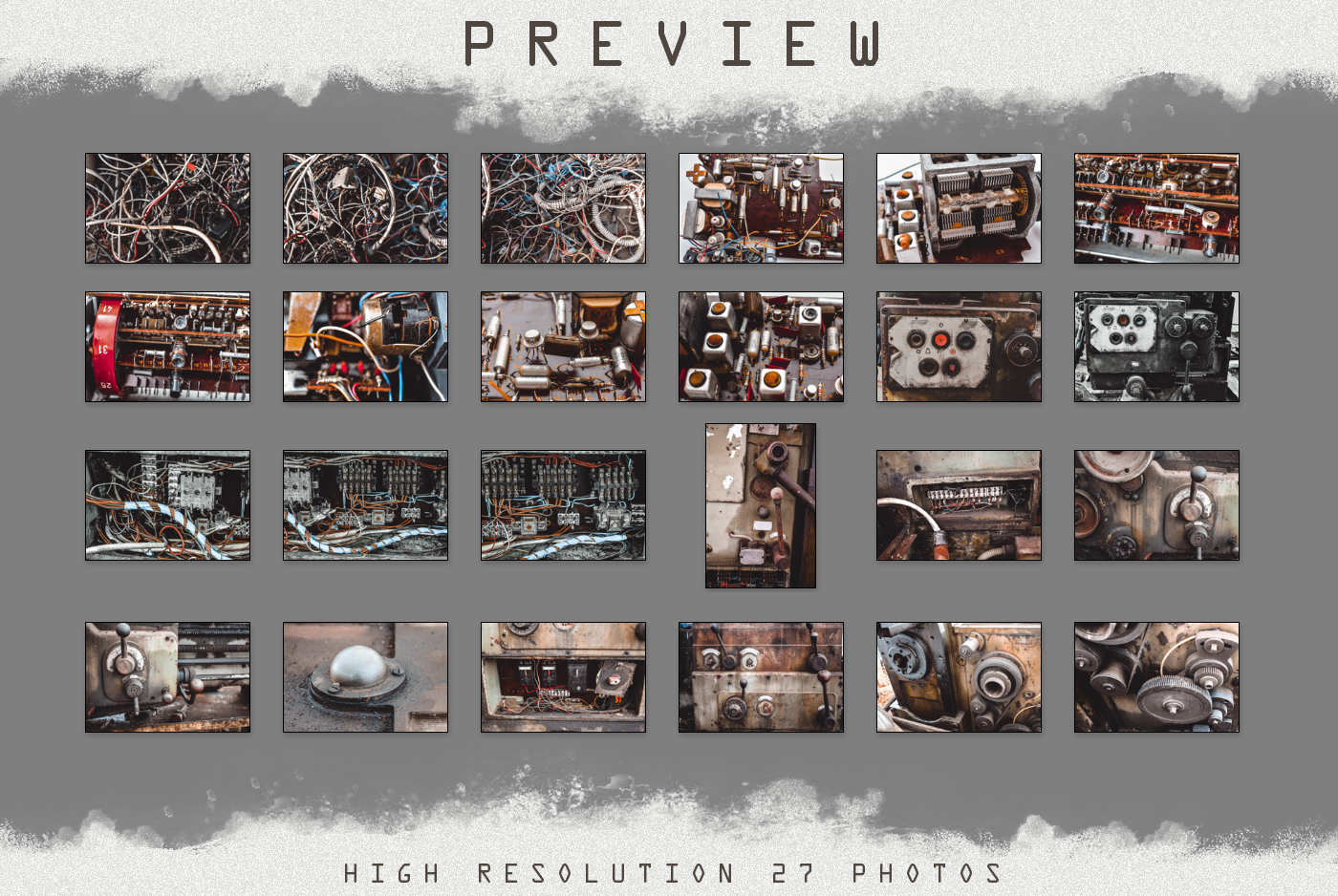 Grunge Steampunk Textures Overlays background pack digital example image 3