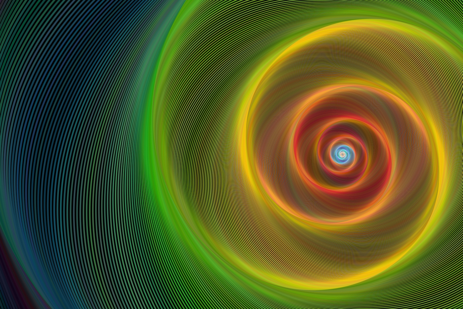 5 Fractal Spiral Backgrounds (AI, EPS, JPG 5000x5000) example image 2