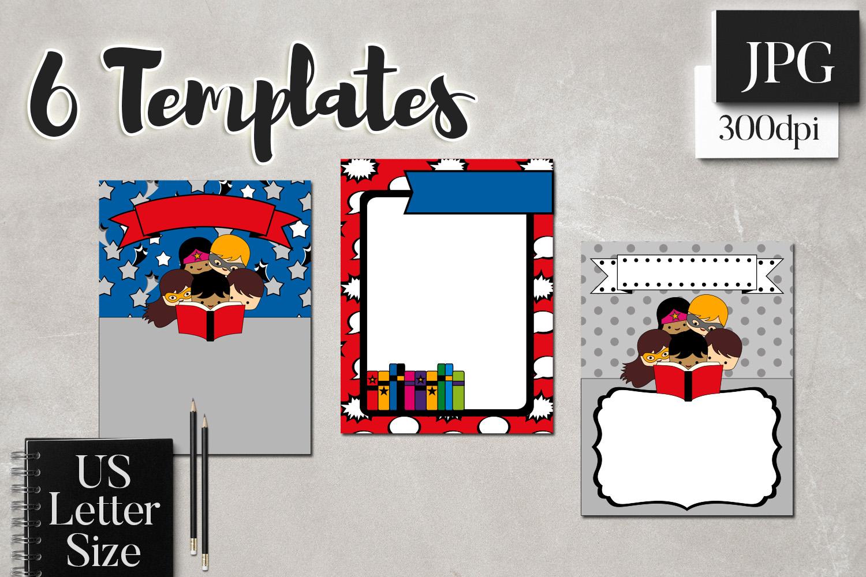 Back To School Superhero Flyer Templates example image 3