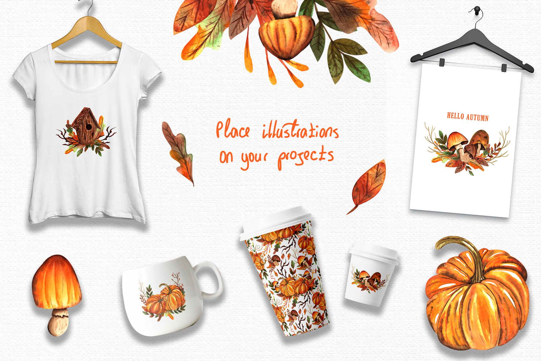 Watercolor Autumn Collection example image 5