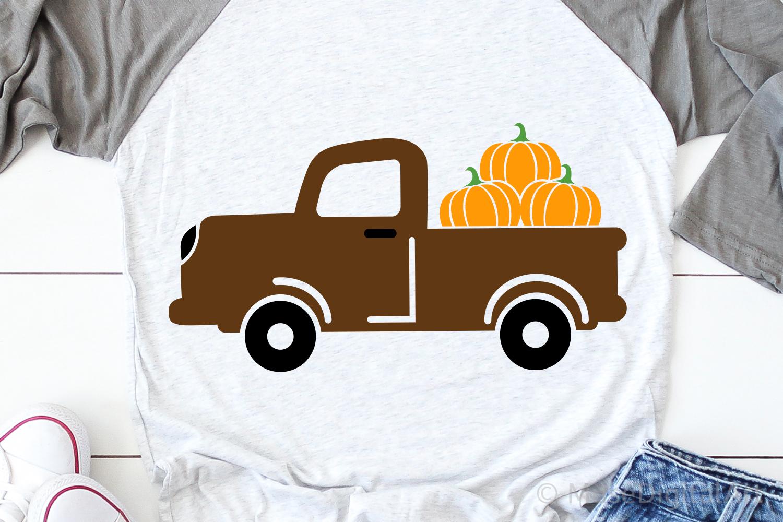 Pumpkin Truck Svg, Fall Svg, Pumpkins Svg, Pumpkin Spice Svg example image 1