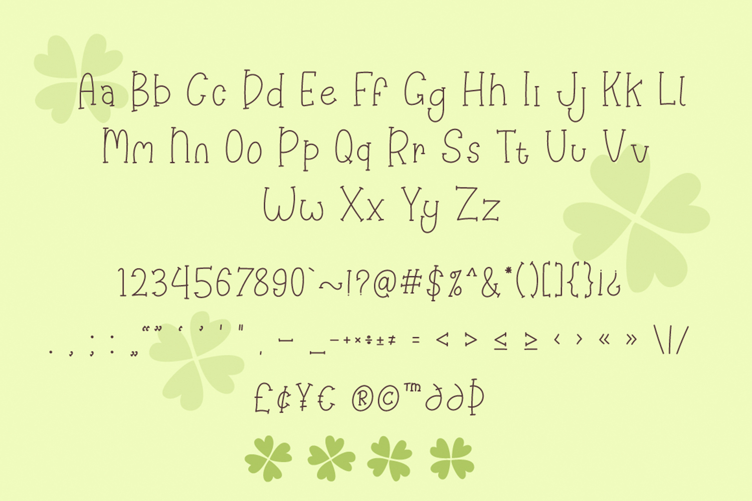 Happy Clover Font Duo example image 7