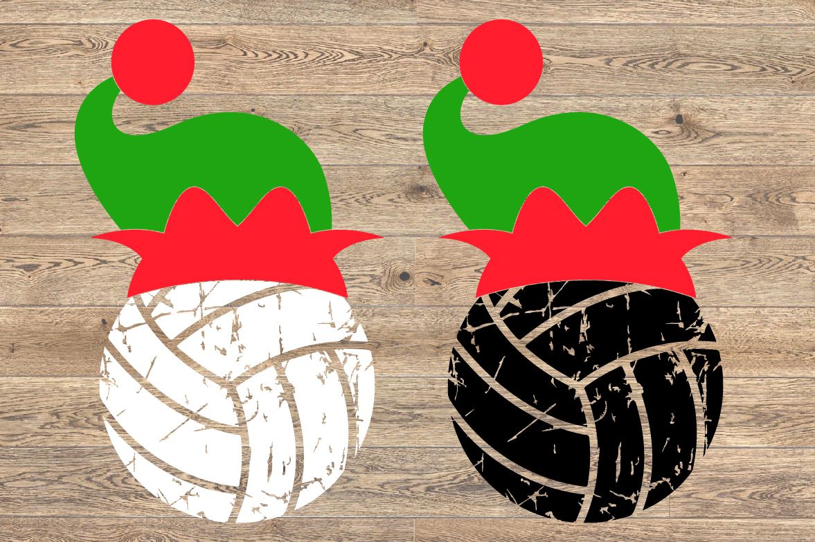 Volleyball Christmas Hat svg Elf sweater svg Elf 1047s example image 2