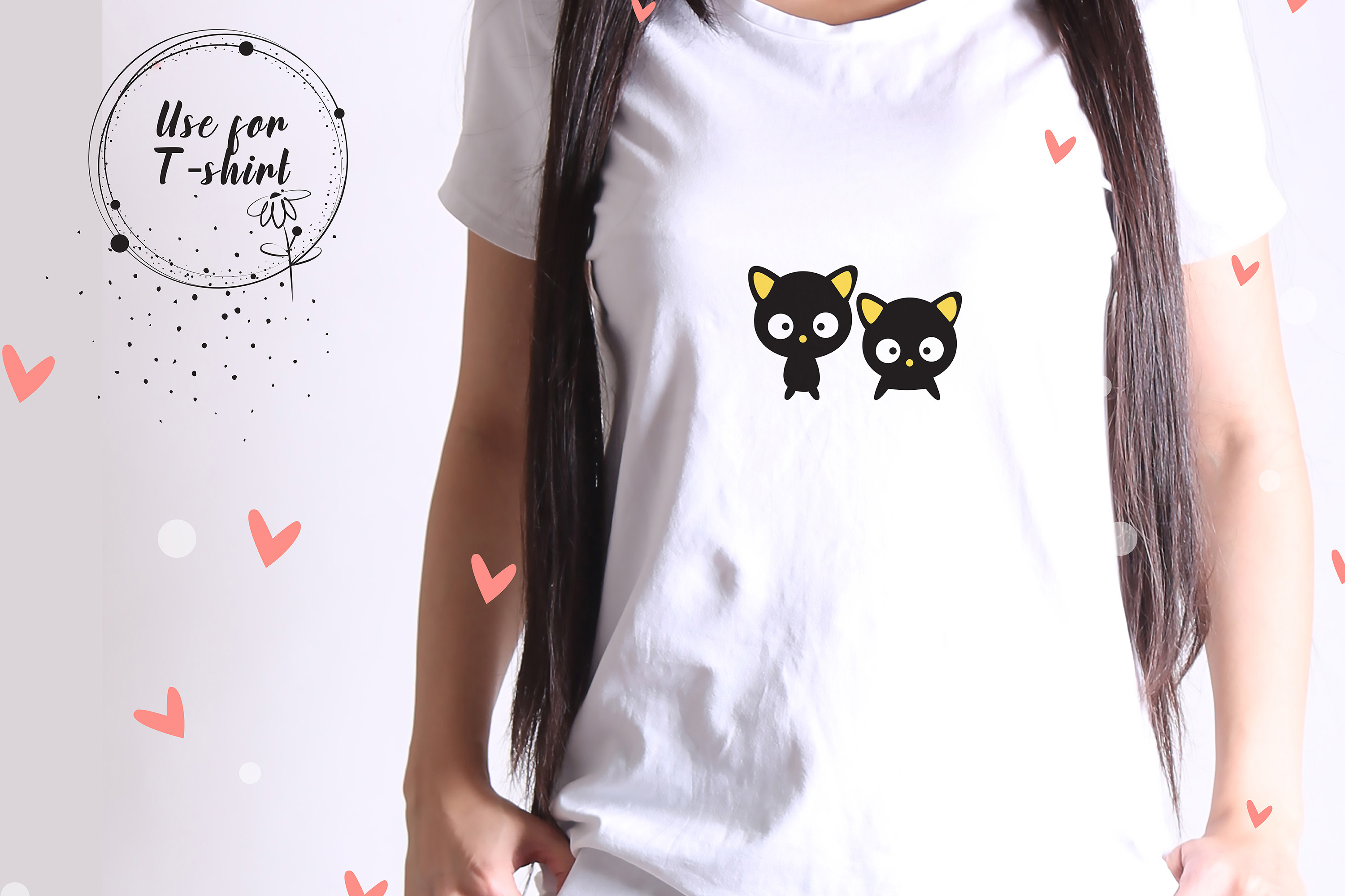 Cute black Cat high res svg, png, eps, jpeg, sticker example image 7