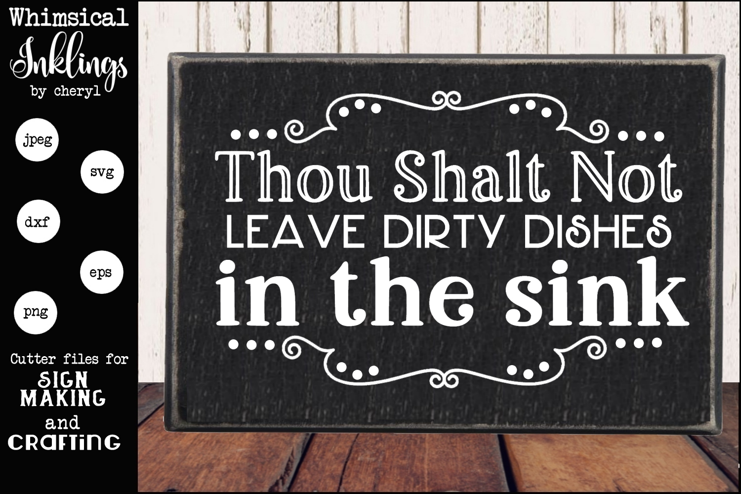 Thou Shalt Not Leave Dirty Dishes SVG example image 1