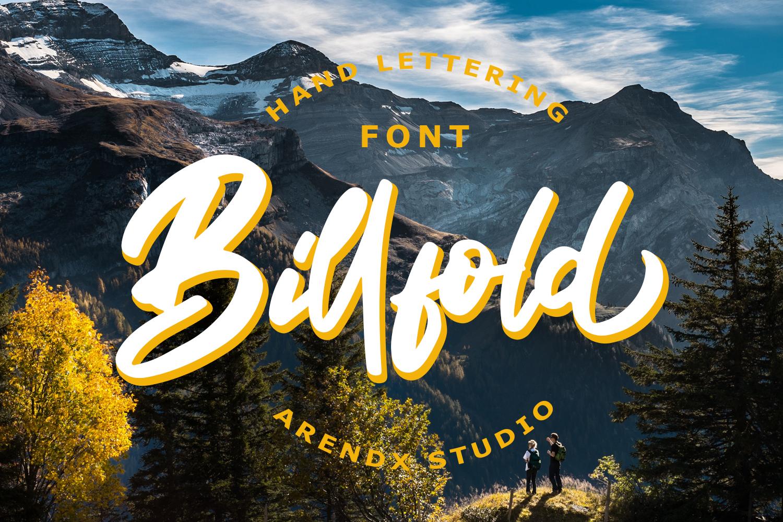 Billfold Handwritten Script example image 1