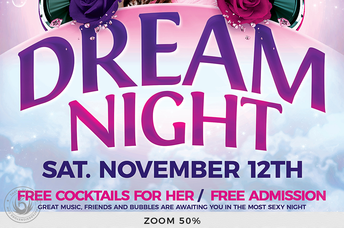 Dream Night Flyer Template example image 8