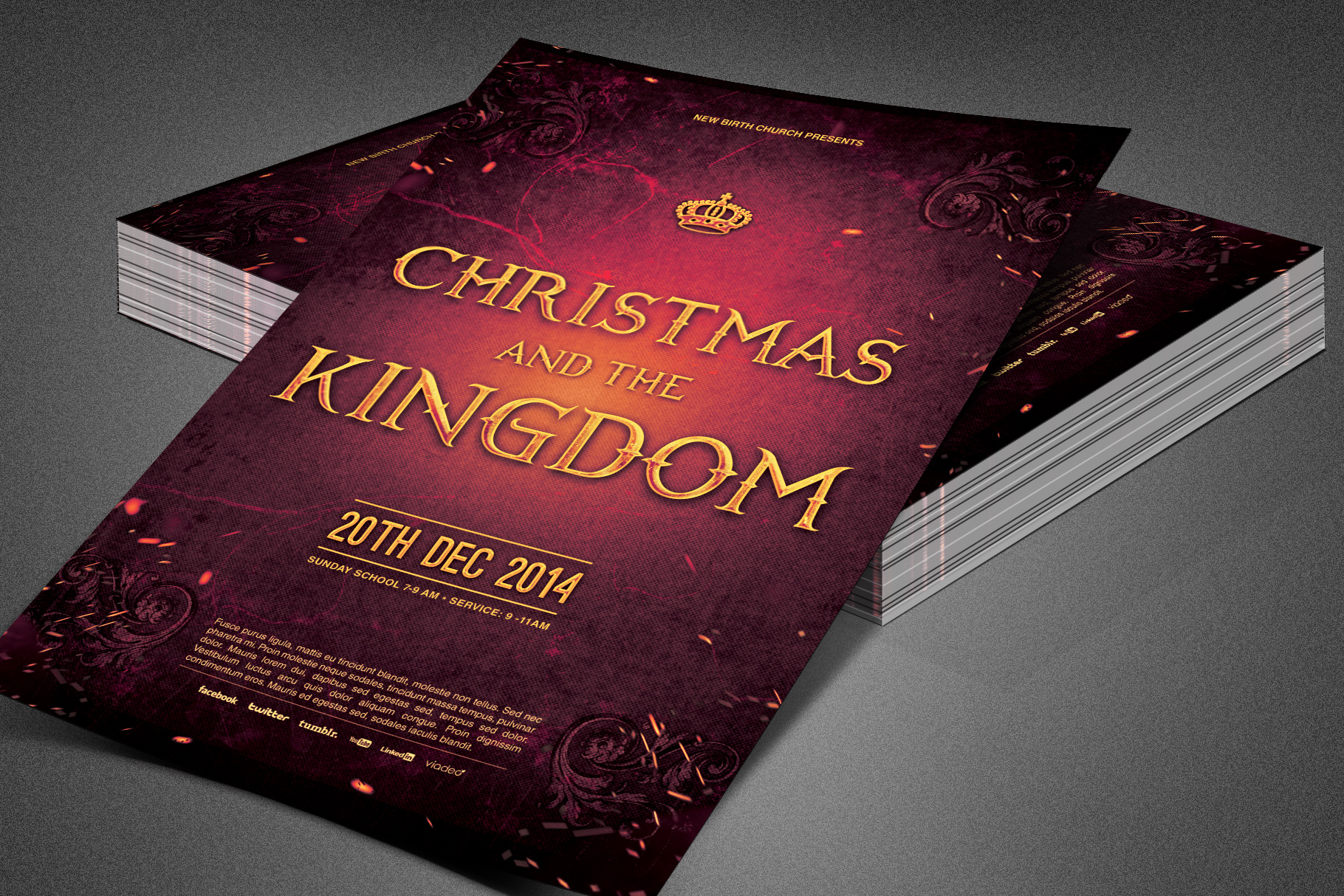 Christmas and the Kingdom Flyer example image 3