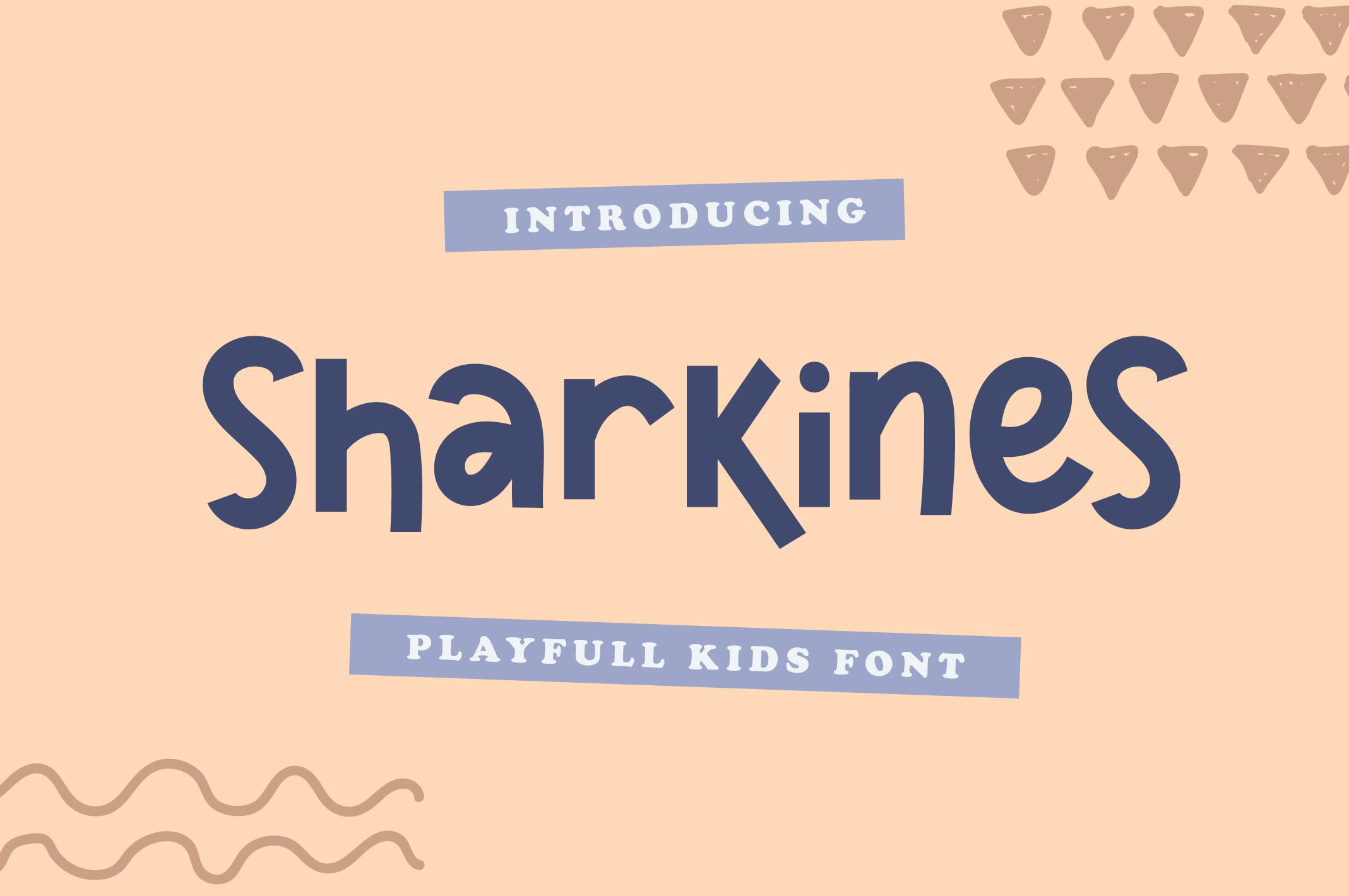 Sharkines | Playful Kids Font