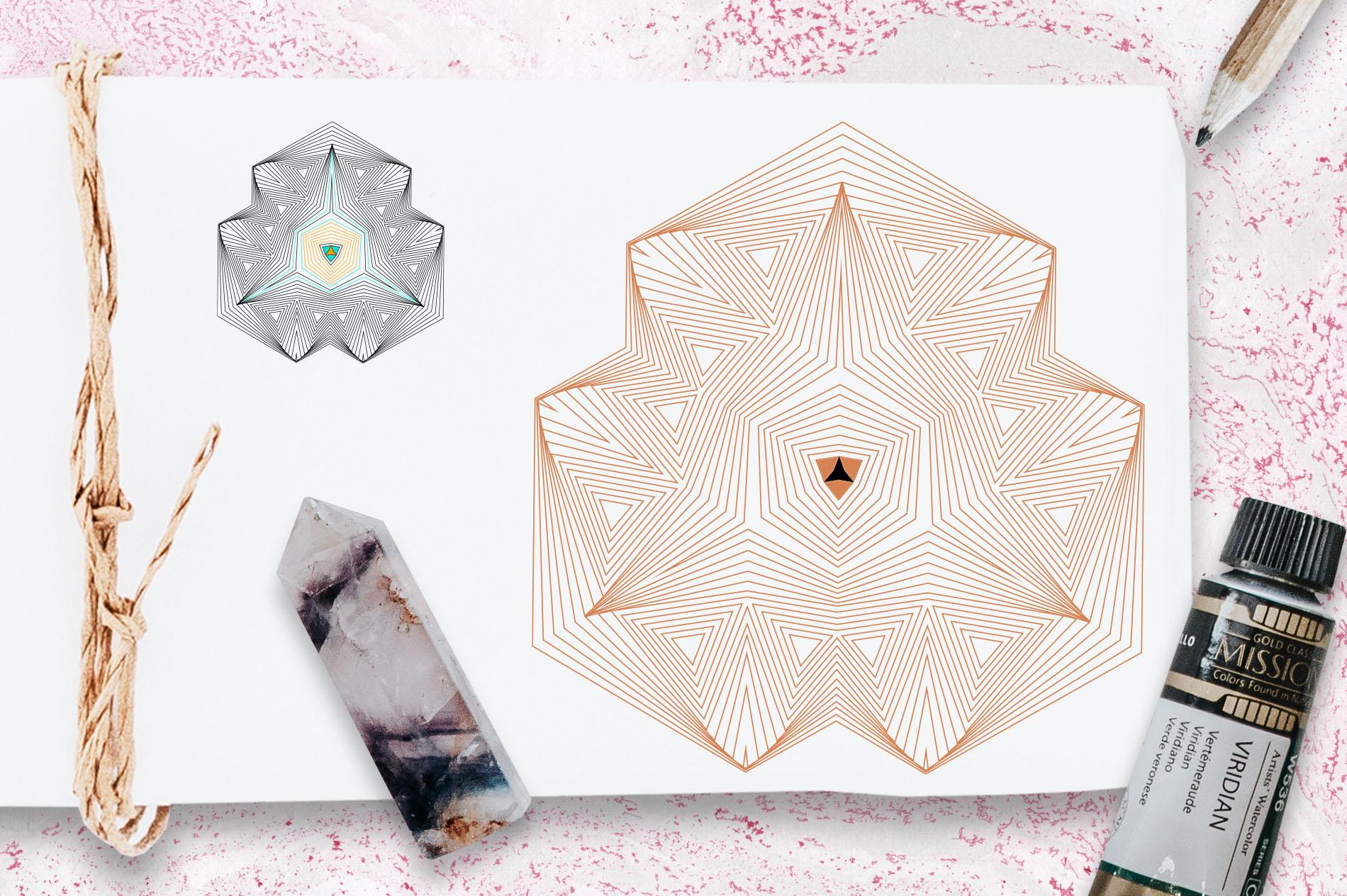 Illusion linear geometric shapes example image 13