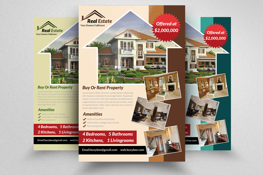 6 Real Estate Business Flyers Bundle example image 4