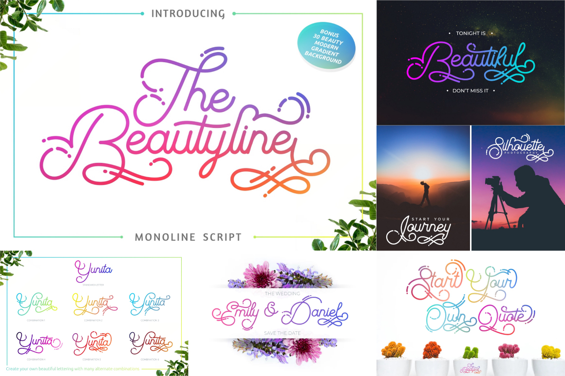 Best Crafting Font Bundles! 126 Fonts ! example image 12