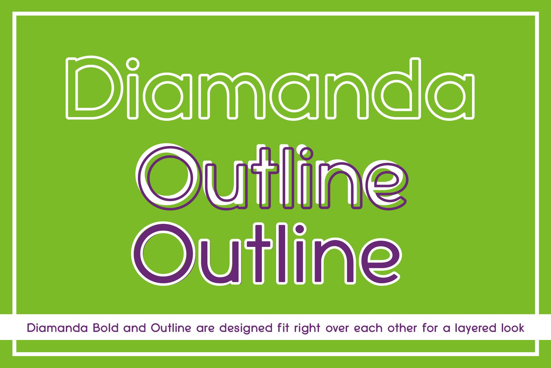 Diamanda Oulines Duo Font example image 2
