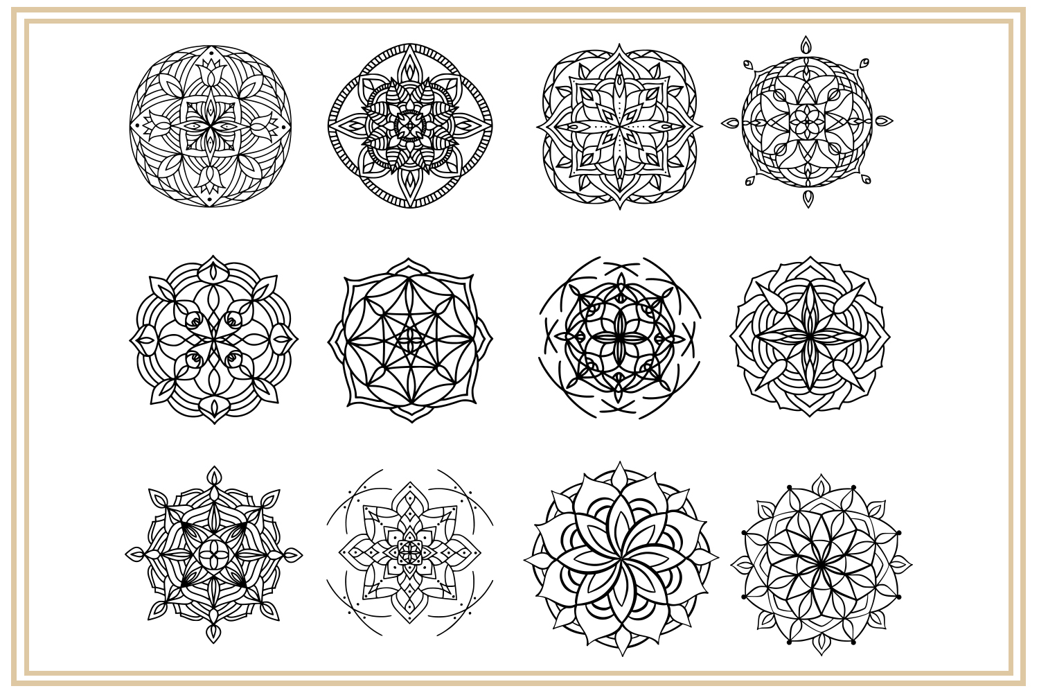 36 hand drawn mandalas. EPS, PNG, SVG Designs example image 4
