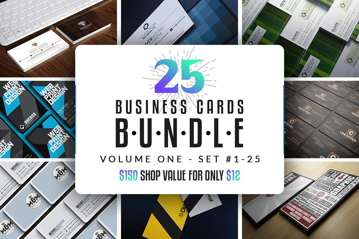 25 Business Cards Bundle - Vol 01 example image 1