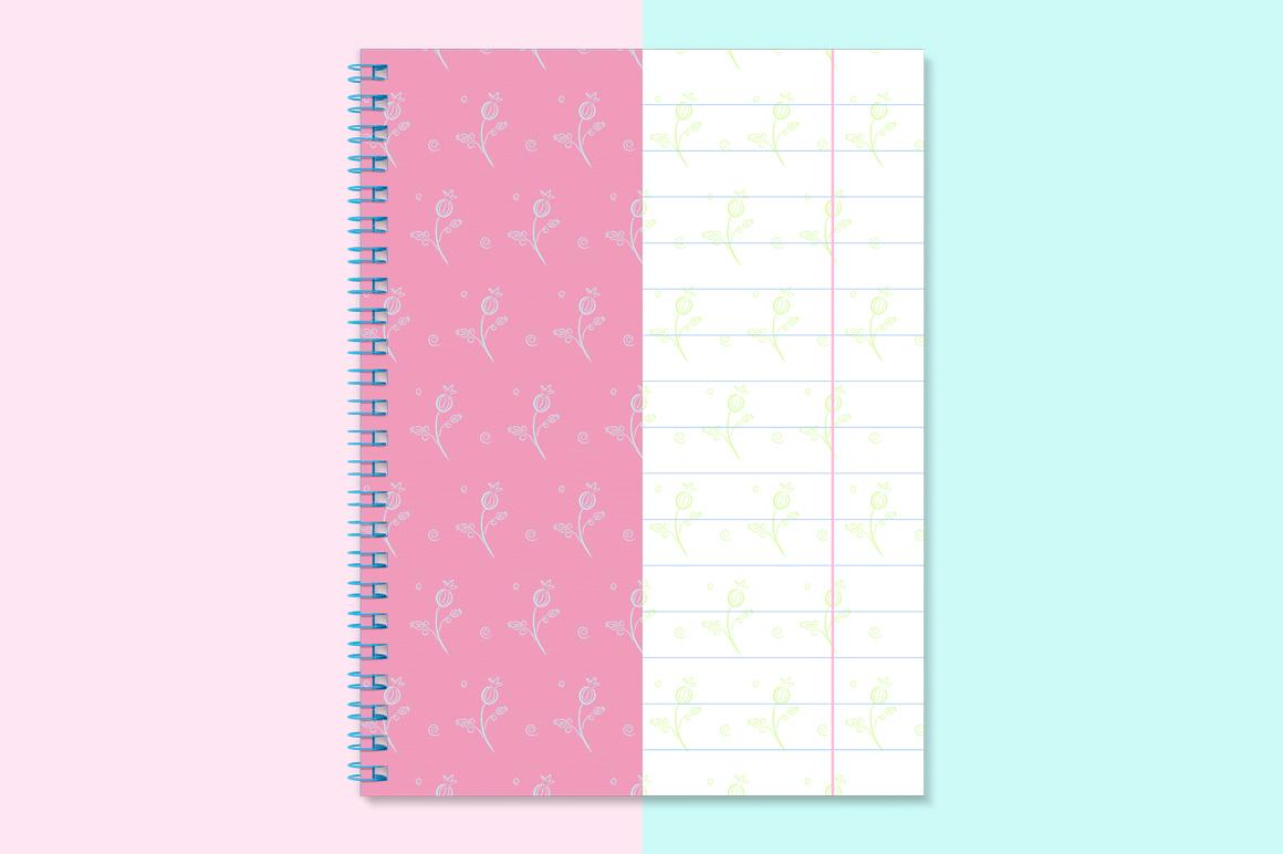 Notebook with spring mockup. Sketchbook mockup. example image 3
