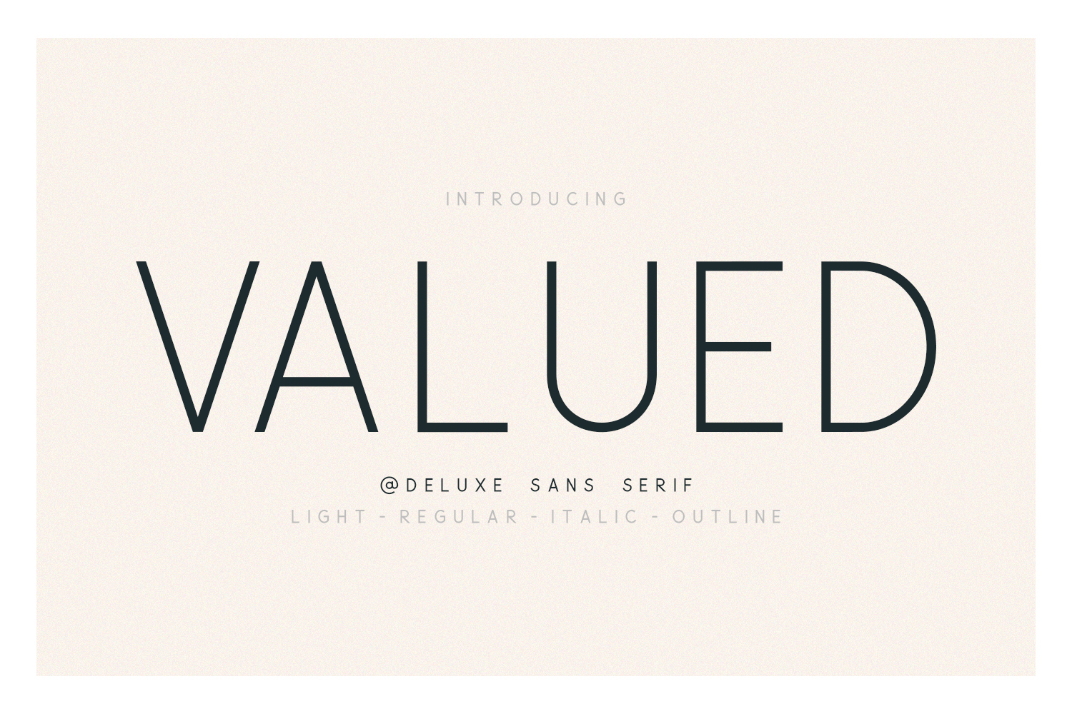 Valued - A Deluxu Sans Serif Family example image 1