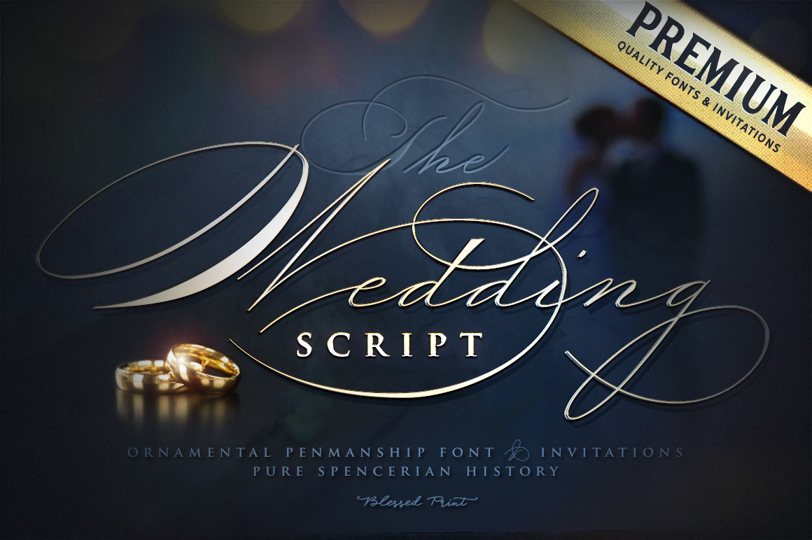 The Wedding Script & Invitation set example image 1
