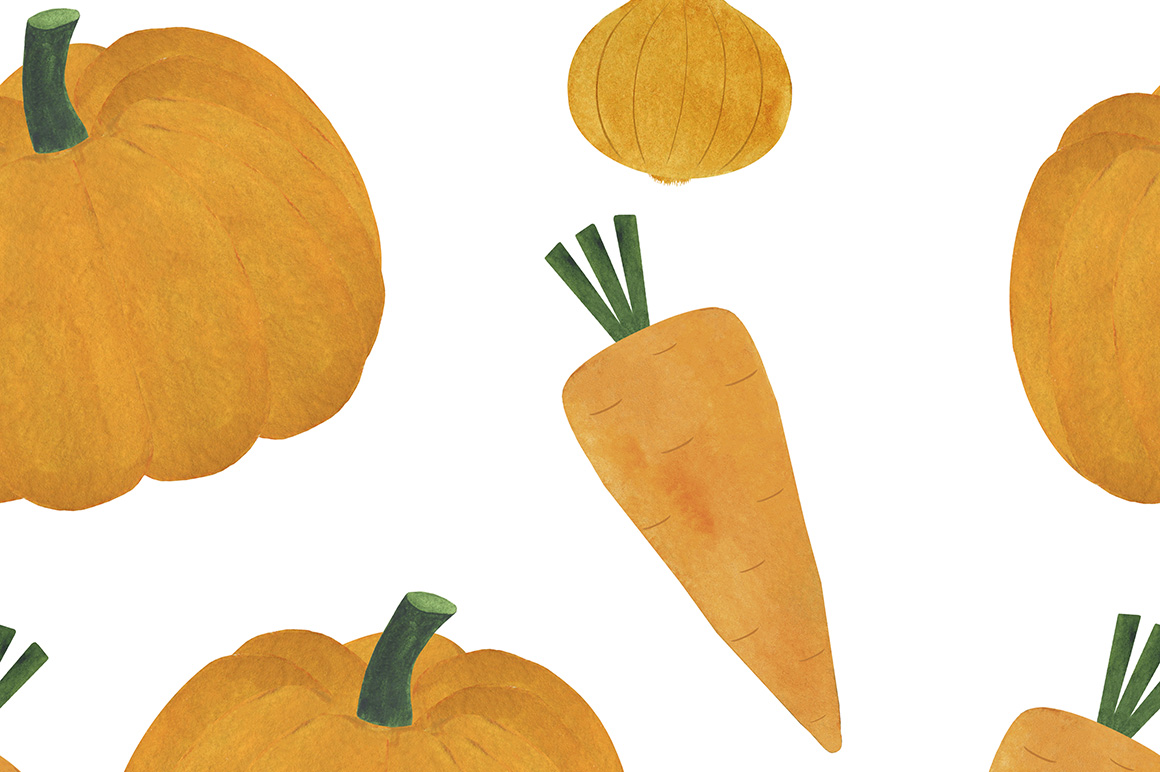 Watercolor vegetables collection example image 10