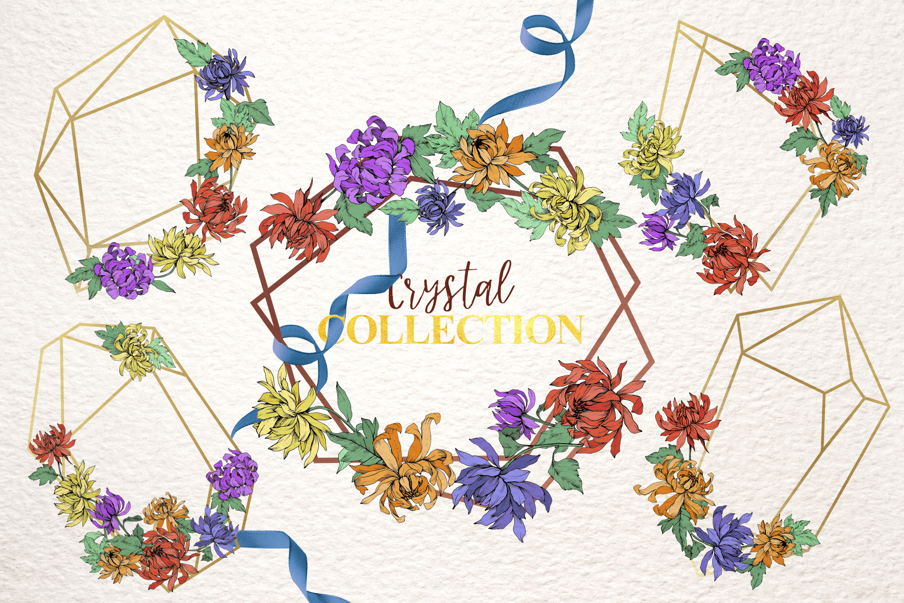 Chrysanthemum Vector Flowers example image 6