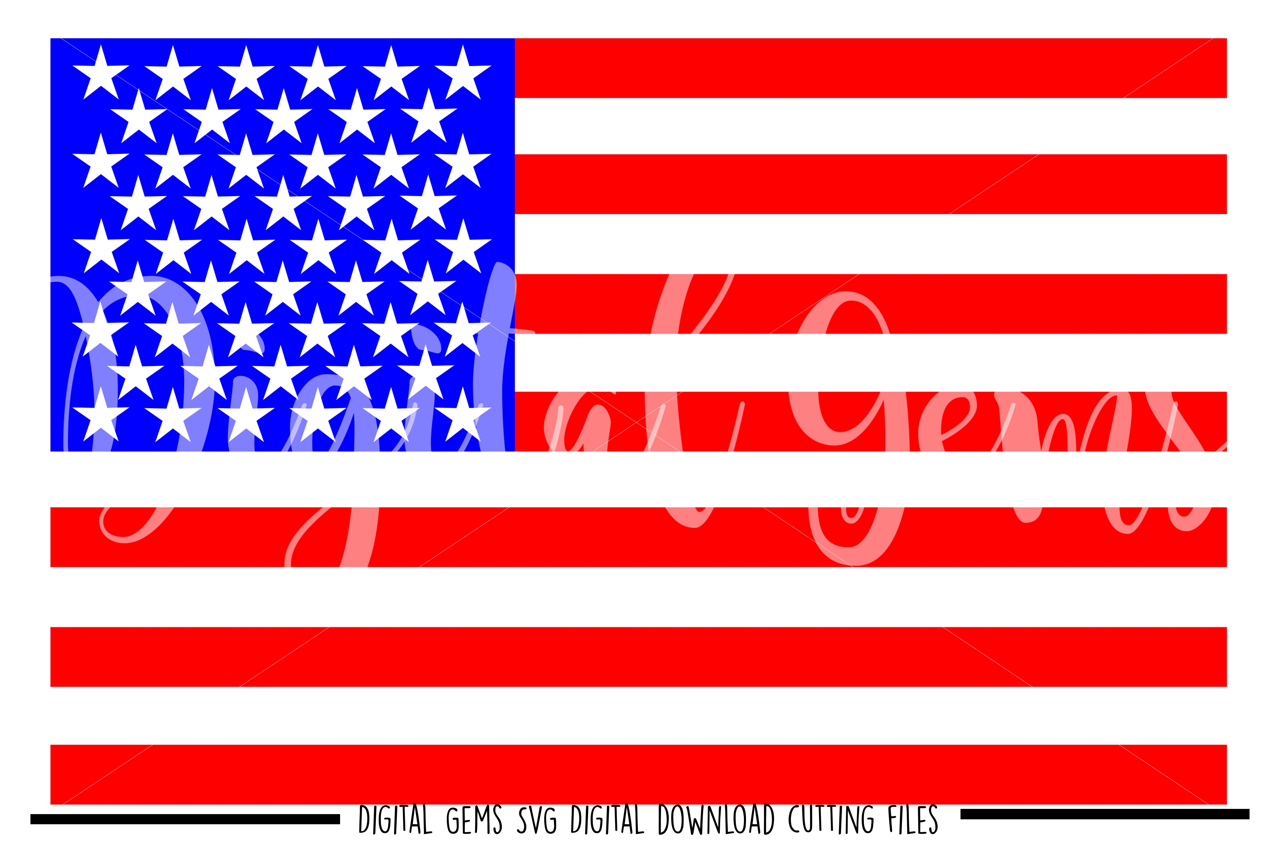American Flag SVG / PNG / EPS / DXF files example image 1