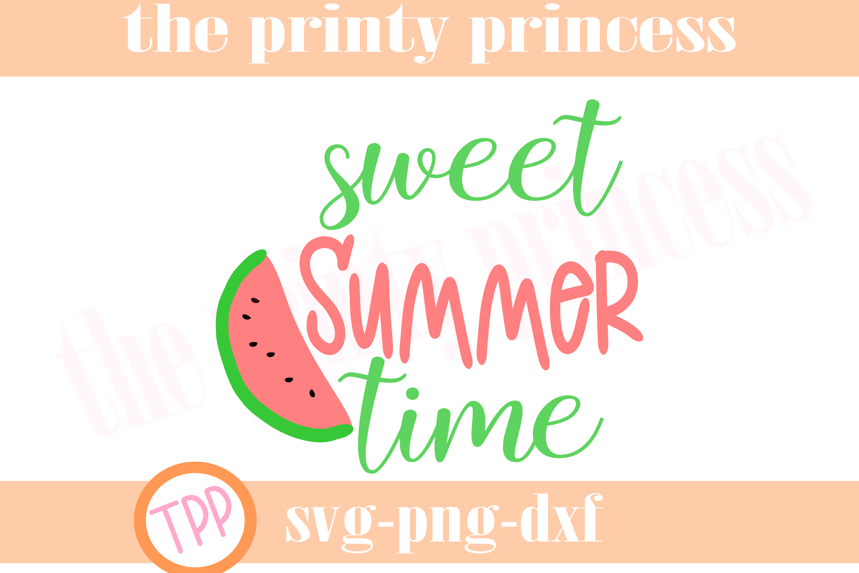 Sweet Summer Time svg, Watermelon svg design file, Svg example image 1
