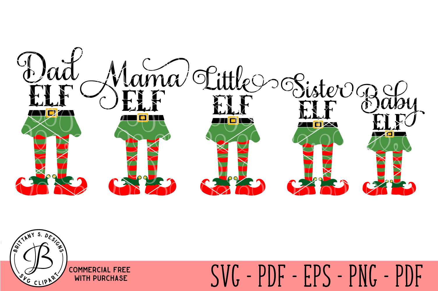 Elf Family SVG, Elf Family bundle svg, Elf bundle svg example image 1