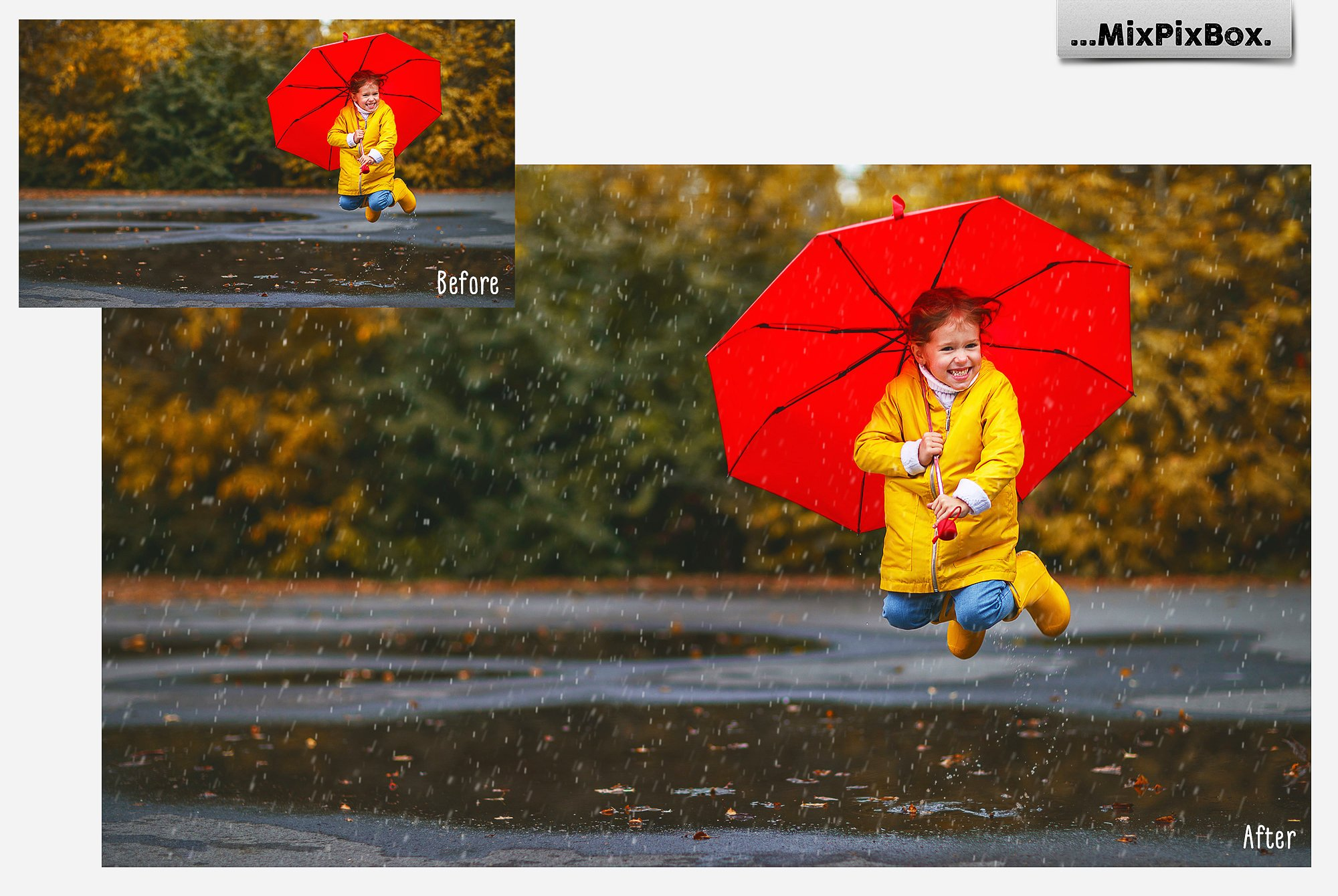 Realistic Rain Photo Overlays example image 4