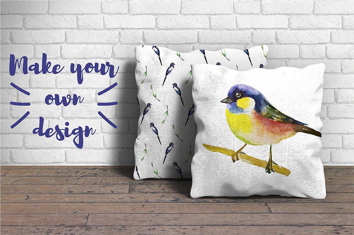 Watercolor Birds example image 4