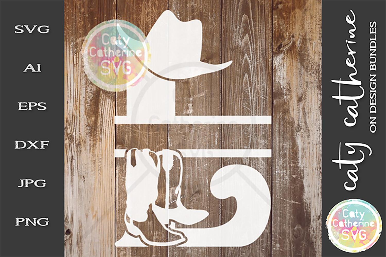 Letter L Cowboy Monogram SVG Includes Cowboy Boots example image 1