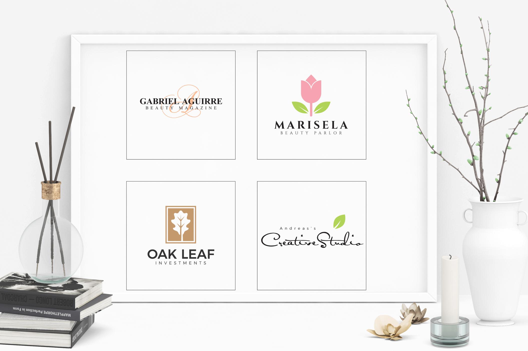 Feminine Minimal Branding Logo Pack example image 6