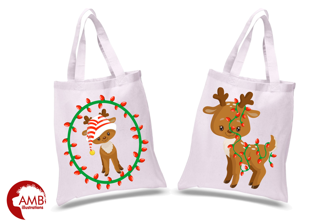 Santa's Baby Reindeer clipart, graphics, illustrationsAMB-1558 example image 5