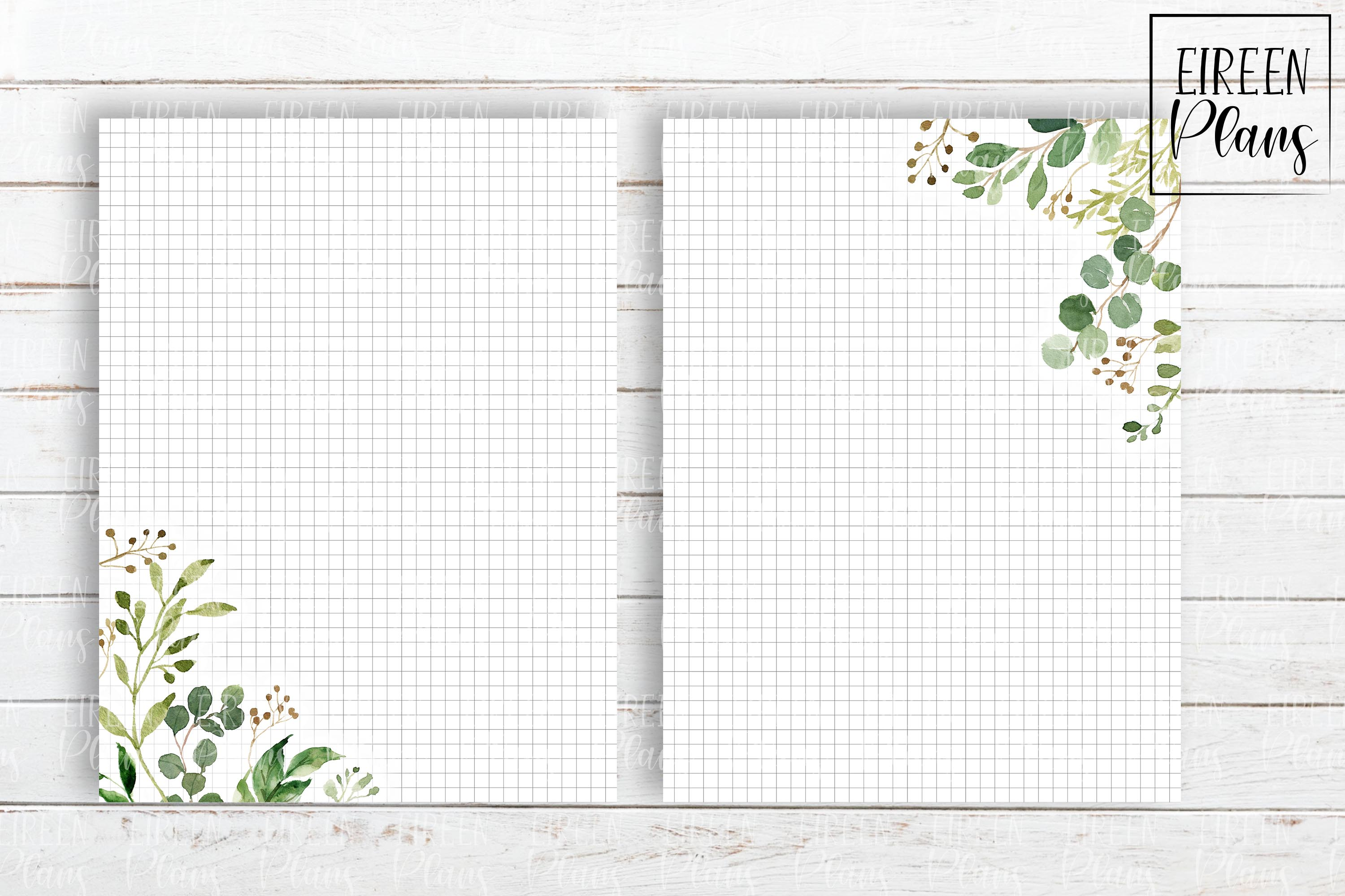 Set of greenery notes for the Classic Happy Planner example image 4