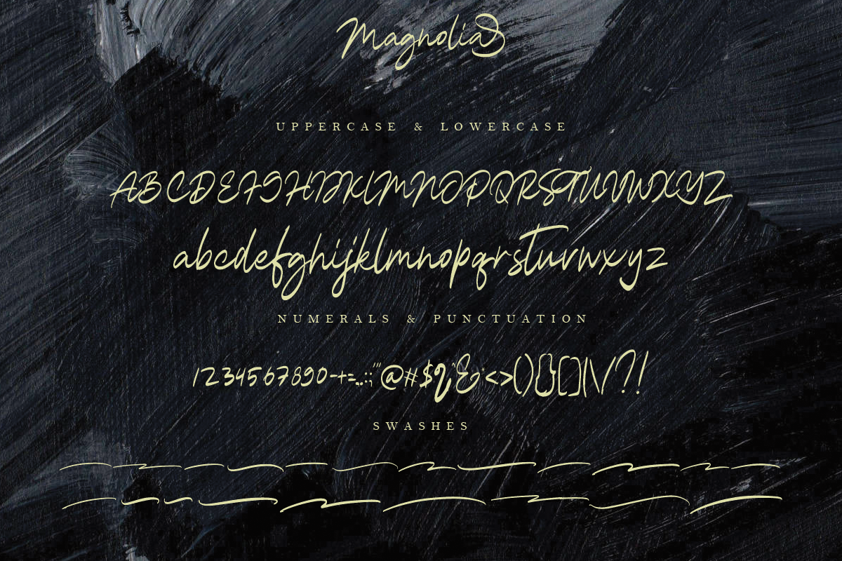 Magnolia A Stylish Calligraphy Font example image 14