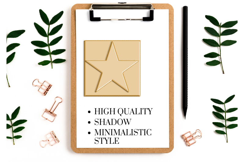 Basic Shape Silhouette, Gold Ballon Foil Shapes Designs, example image 4