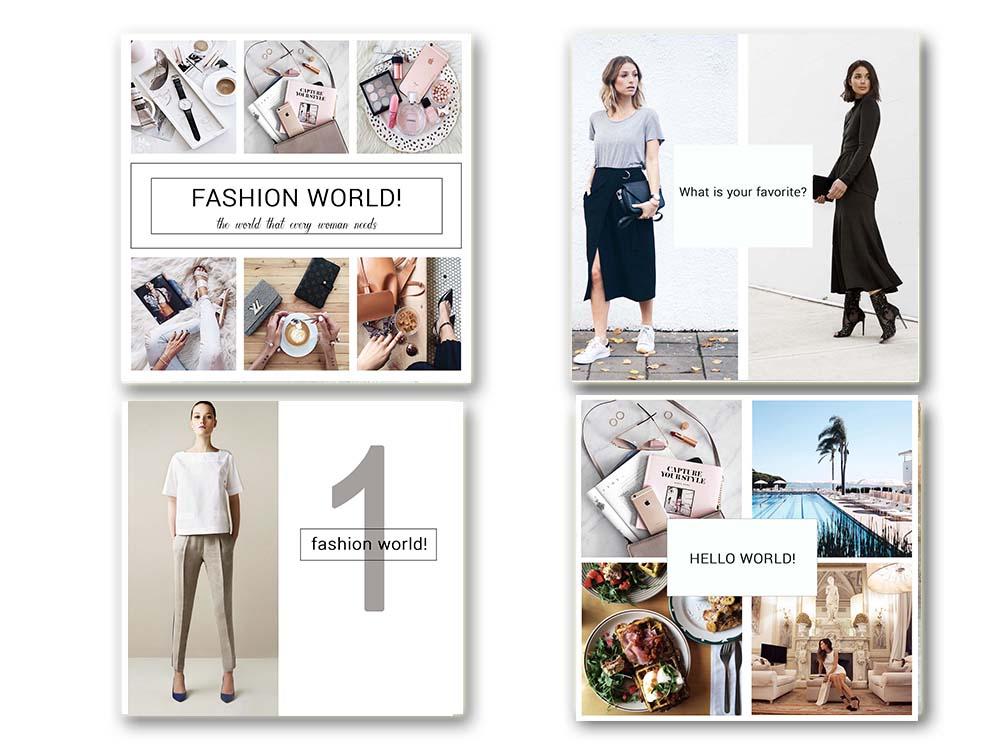 Fashion Social Media Pack, Social Media Bundle, 20 Square Social Media Templates, Instagram Template Pack, Social Media Graphics Pack example image 5