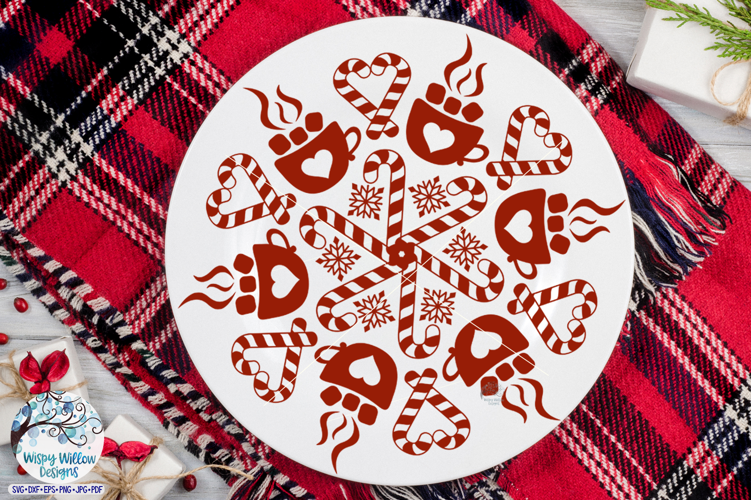 Hot Cocoa Mandala SVG | Winter Mandala SVG Cut File example image 2