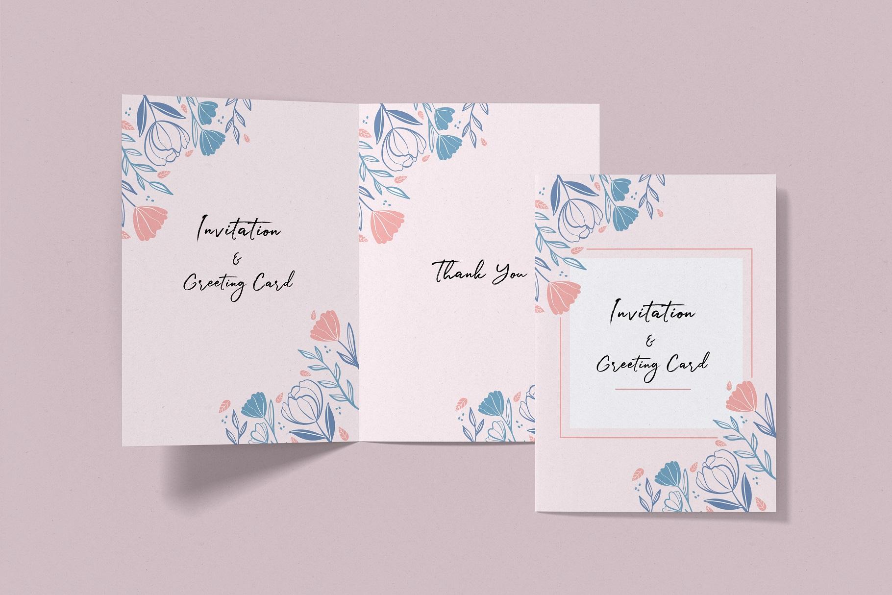 Invitation & Greeting Card Mockup example image 10