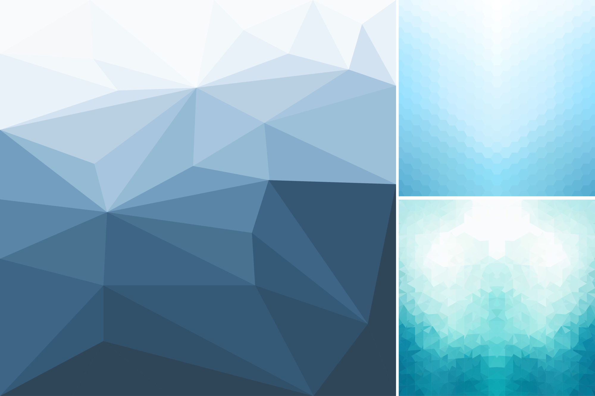 Blue abstract geometric backgrounds. example image 6