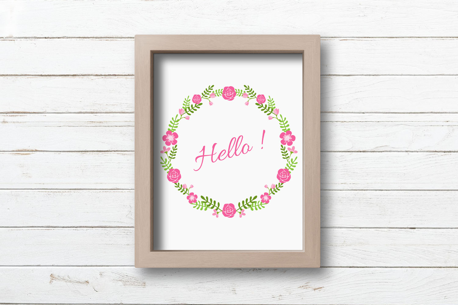 Flowers Clipart, Flower wreath, Frame and Border. example image 2