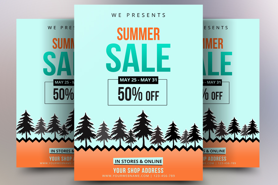 Summer Sale Offers Flyer example image 1