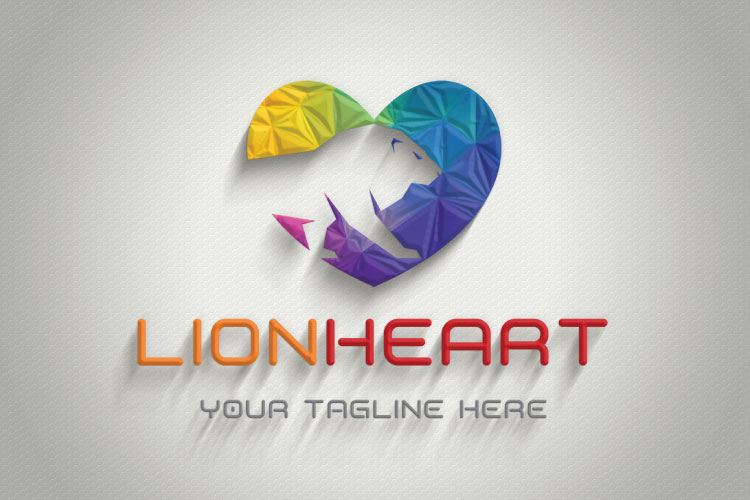 Lion in Heart Logo example image 3