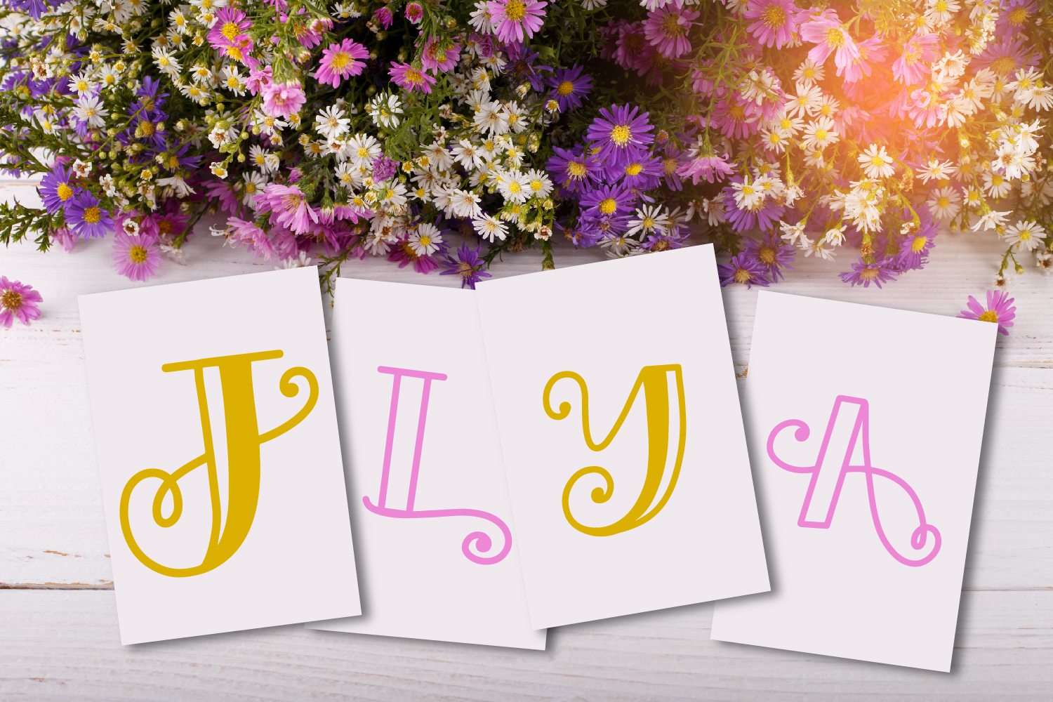 Intially - A Hand Lettered Monogram Font example image 9