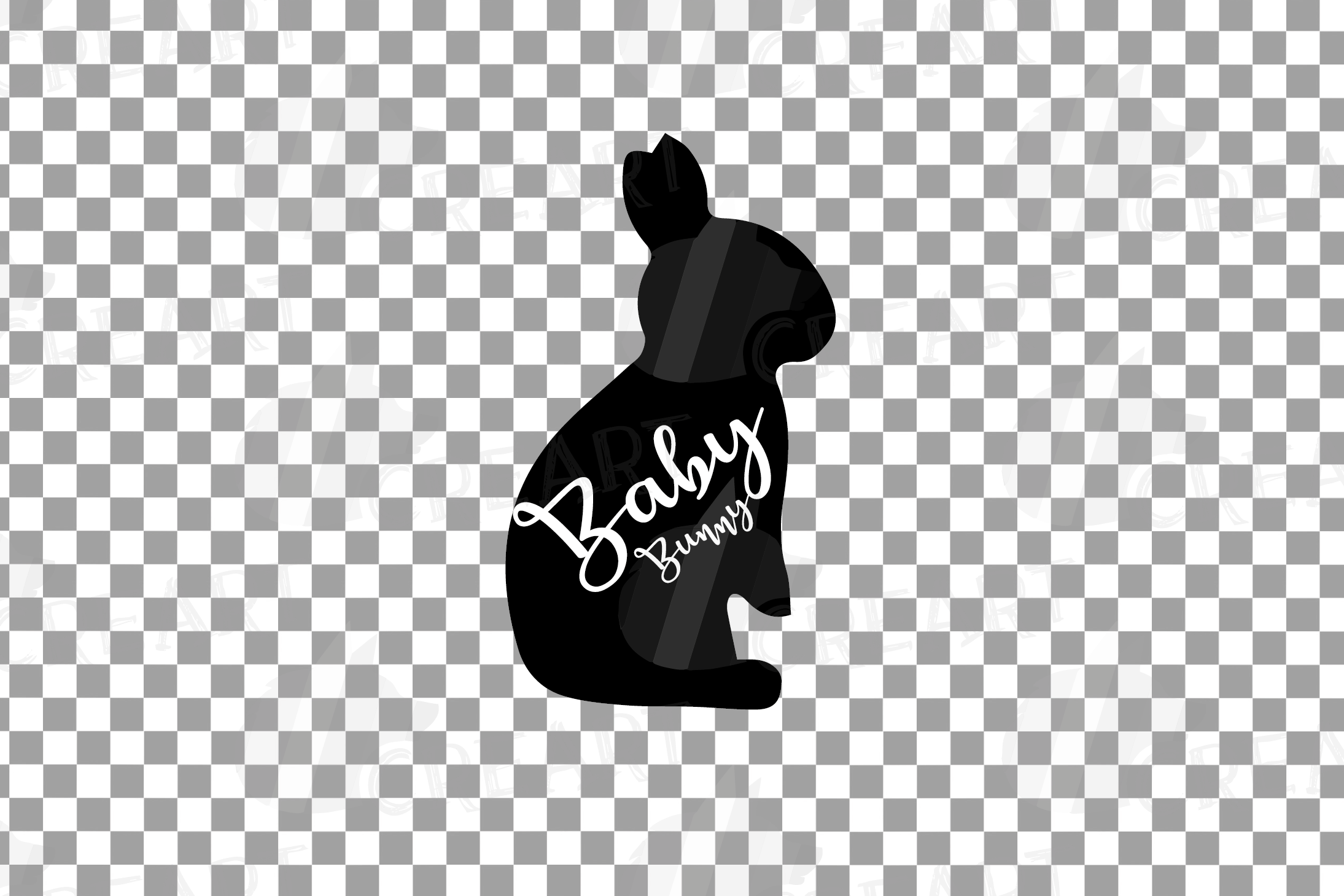 Rabbit family silhouettes, bunny silhouette svg cutting file example image 9