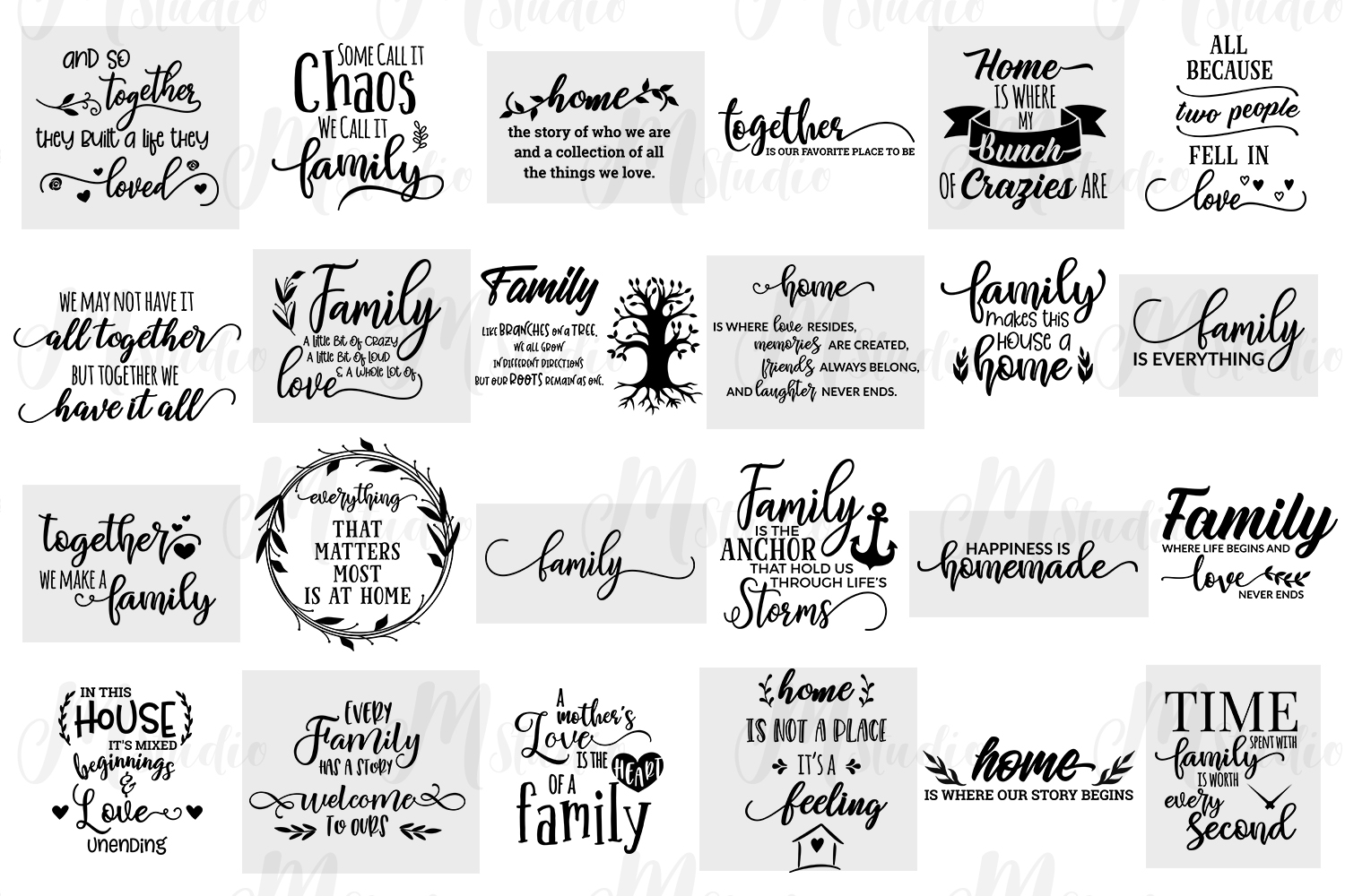 Family Quotes svg bundle example image 2